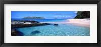 Framed Island in the sea, Veidomoni Beach, Fiji
