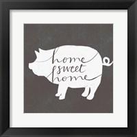 Framed Home Sweet Home Pig