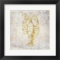 Framed Lobster Geometric Gold
