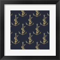 Framed Gold Anchor
