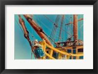 Framed Figurehead Mermaid Pirate