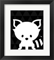 Framed Woodland Raccoon