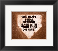 Framed Second Base