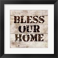 Framed Bless Our Home In Wood