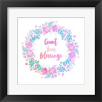 Framed Count Your Blessing-Pastel
