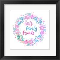 Framed Faith, Family, Friends-Pastel
