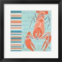 Framed Nautical Lobster