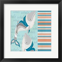 Framed Nautical Whales