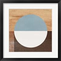 Framed Mod Blue and White