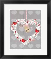 Framed Noel Heart