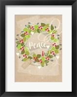 Framed Peace Wreath