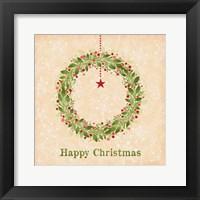 Framed Happy Christmas - Wreath