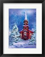 Framed Christmas Meeting House