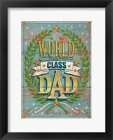 Framed World Class Dad