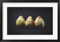 Framed Pears - Live Laugh Love