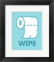 Framed Boy's Bathroom Task-Wipe