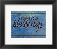 Framed Count Your Blessing-Blue