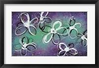 Framed Mod Flowers in Purple