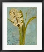 Framed Hyacinth on Teal I