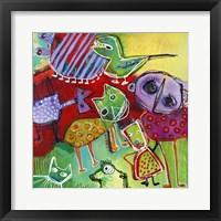 Framed Colourfull Mars Men VII