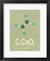 Framed Molecule Agave Green