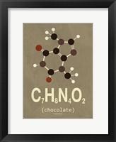 Framed Molecule Chocolate