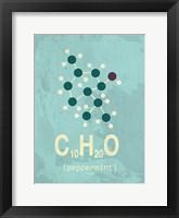 Framed Molecule Peppermint