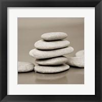 Framed Zen Pebbles 1