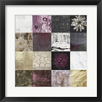 Framed Tiles Decor Purple