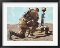 Framed Soldier's Cross