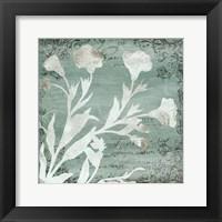 Framed Postal Floral Silo