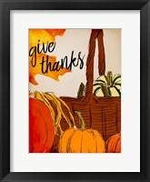 Framed Give Thanks Basket