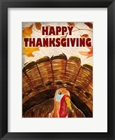Framed Happy Thanksgiving Turkey