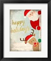 Framed Santa and Rudolph