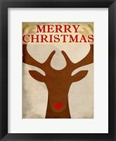 Framed Reindeer Christmas