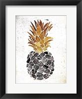 Framed Golden Mandala Pineapple