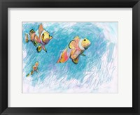 Framed Clowfish Trio