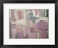 Framed Abstract Soft Pink