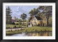 Framed Yellow House