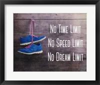 Framed No Time Limit No Speed Limit No Dream Limit Blue Shoes