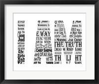 Framed Names of Jesus I AM Silhouette White