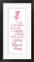 Framed Little Girls Dreams