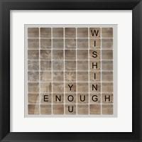 Framed Wish Enough