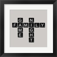 Framed Game Night - Black