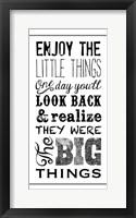 Framed Little Things BNW