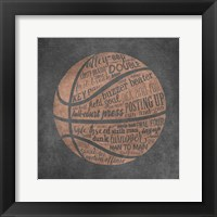 Framed Basketball Terms