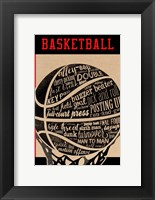 Framed Basketball