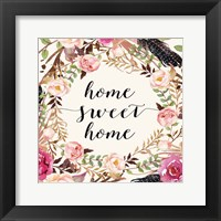Framed Home Sweet Home - Sq.