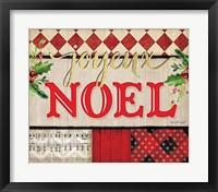 Framed Joyeux Noel Plaid
