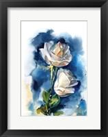 Framed Indigo Roses